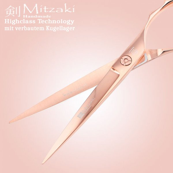 HAMAGURI rose`GOLD mit Kugellager , PROFI-SCHERE in ERGO Form  (in 5.5 , 6.0 oder in 7.0 ZOLL) Schneiden-Pointen-Slicen, unsere Empfehlung für TOP-Stylisten, Premiumklasse, mit Garantie & Zubehör